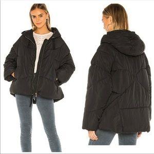 NWT Free People hailey black puffer jacket large